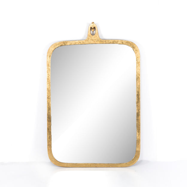 Gold Leaf Rectangular Mirror