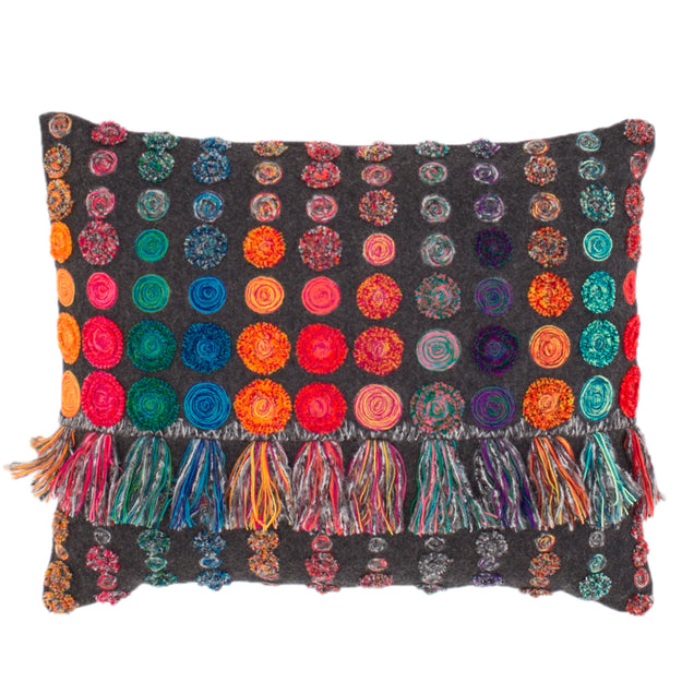 Jamboree Embroidered Decorative Pillow