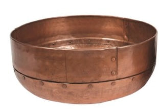 Large Round Copper Hammered Bowl