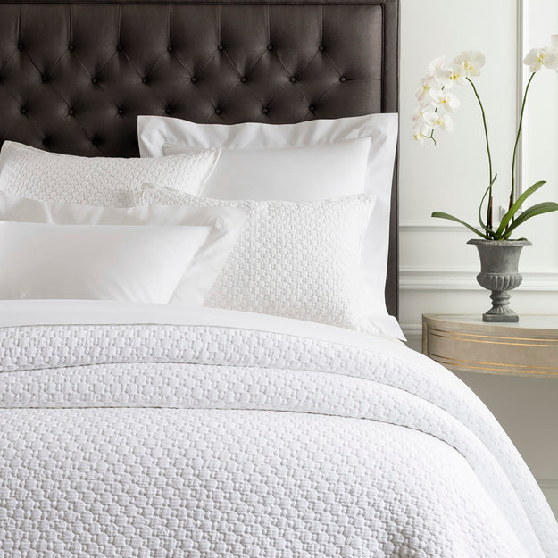 Matelasse White Coverlet