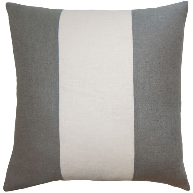 Gray and Ivory Stripe Pillow