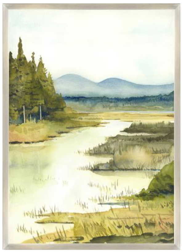'Lake Vista III' Giclee Painting