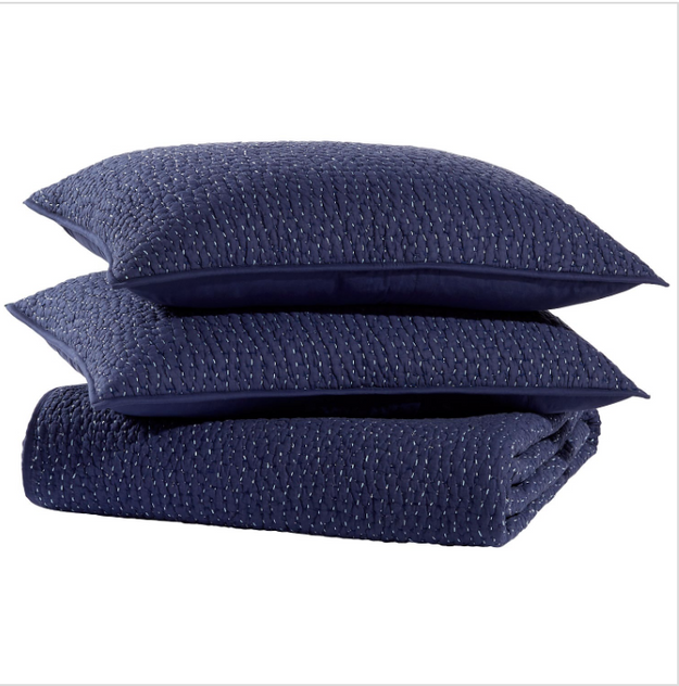 Dyed Indigo Coverlet Set