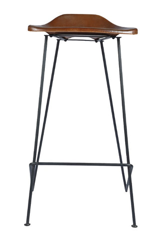 Leather and Metal Barstool