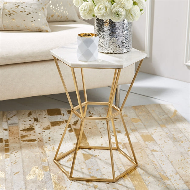 Hexagon Marble Table Nest Interior Design - Hexagon marble coffee table