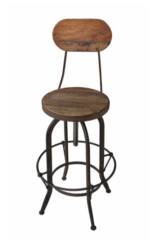 Adjustable Height Barstool