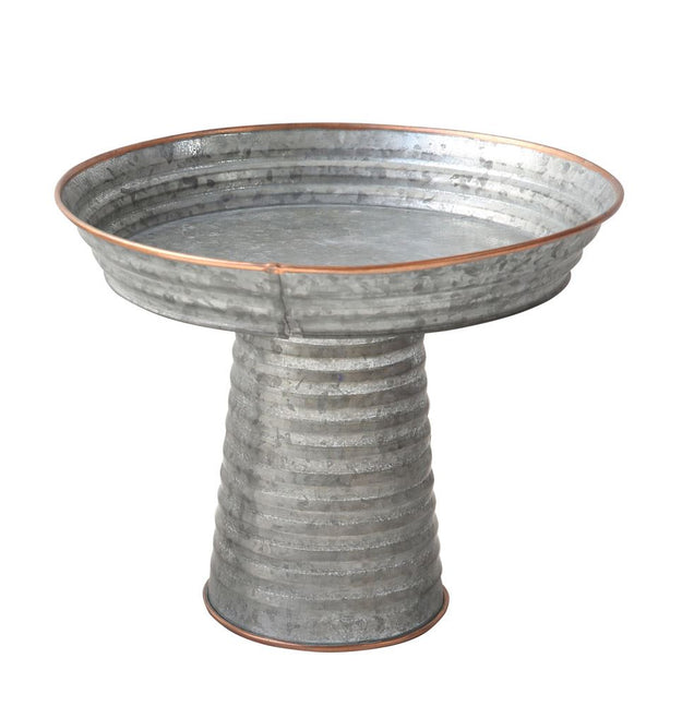 Small Galvanized Metal Pedestal