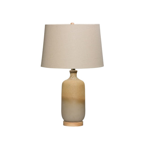 Ceramic Table Lamp w/Linen Shade