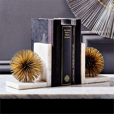 Gold Starburst Bookends