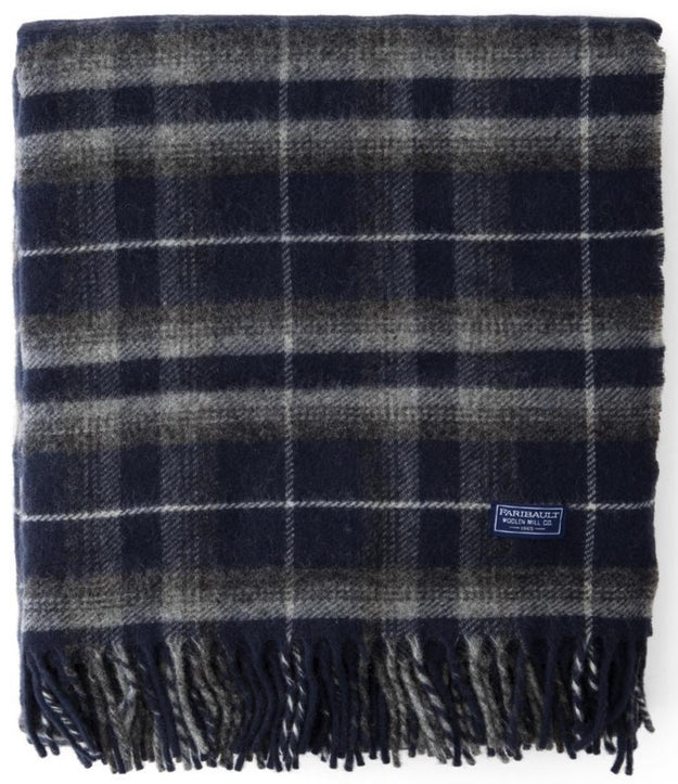 Macalester Plaid Wool Throw