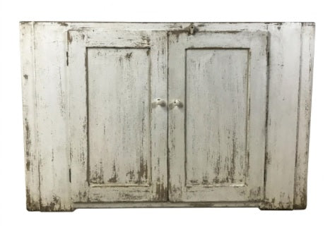 Vintage Inspired Whitewash Cabinet