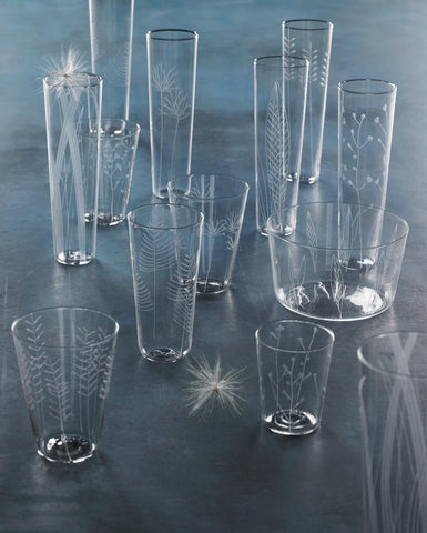 Set of Etched Glasses
