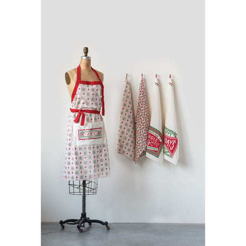 RED/GREEN HOLIDAY TEA TOWEL - Jingle all the way