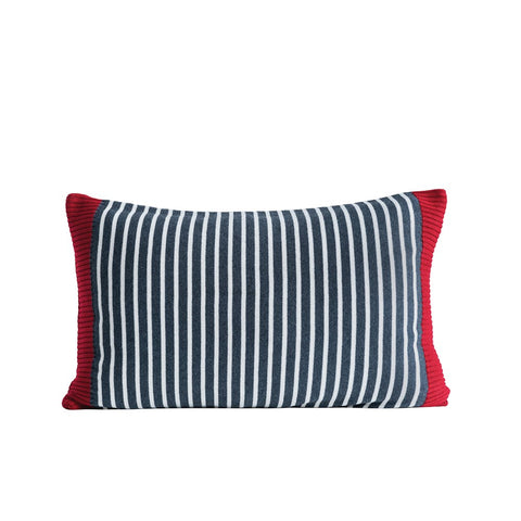 Cotton Knit Striped Pillow