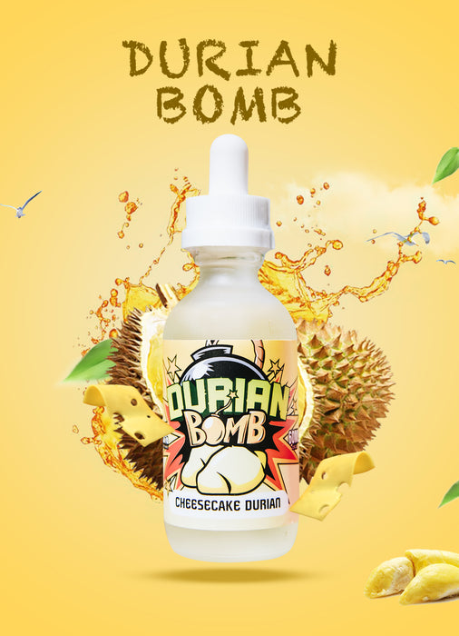 LOVE VAPE - DURIAN BOMB E-LIQUID - CHEESECAKE DURIAN