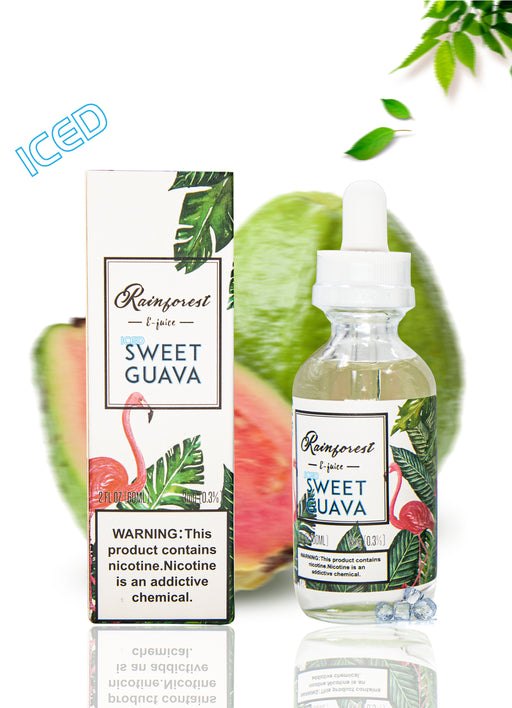 TVS team -Rainforest eliquid -ICED SWEET GUAVA