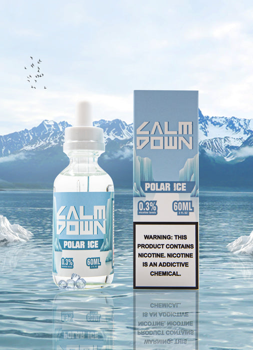 LOVE VAPE - CALM DOWN MENTHOL E-LIQUID - POLAR ICE