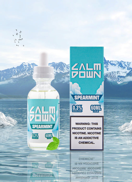 LOVE VAPE - CALM DOWN MENTHOL E-LIQUID - SPEARMINT