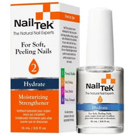 Nail Tek Moisturizing Strengthener 2 0.5 fl oz – Moisturizer for Soft, Peeling Nails