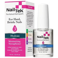 Nail Tek Moisturizing Strengthener 3 0.5 fl oz – Moisturizer for Hard, Brittle Nails