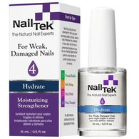 Nail Tek Moisturizing Strengthener 4 0.5 fl oz – Moisturizer for Weak, Damaged Nails
