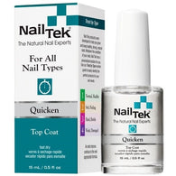 Nail Tek Quicken 0.5 fl oz – Fast-Drying Top Coat