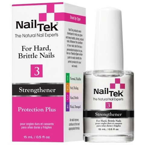 Nail Tek Protection Plus 3 0.5 fl oz – For Hard, Brittle Nails