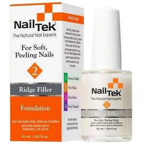 Nail Tek Foundation 2 0.5 fl oz – Ridge Filler for Soft, Peeling Nails