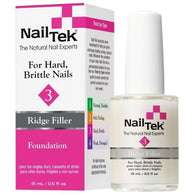 Nail Tek Foundation 3 0.5 fl oz – Ridge Filler for Hard, Brittle Nails