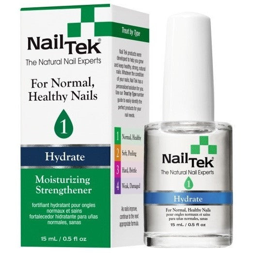 Nail Tek Moisturizing Strengthener 1 0.5 fl oz – Moisturizer for Normal, Healthy Nails