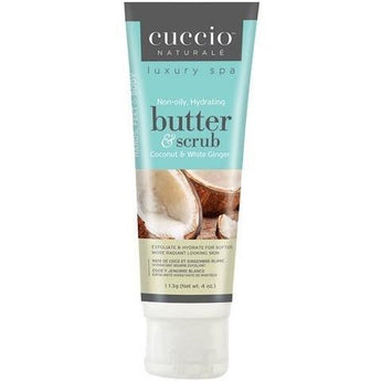 Cuccio Coconut & White Ginger Butter & Scrub Tube 4 oz