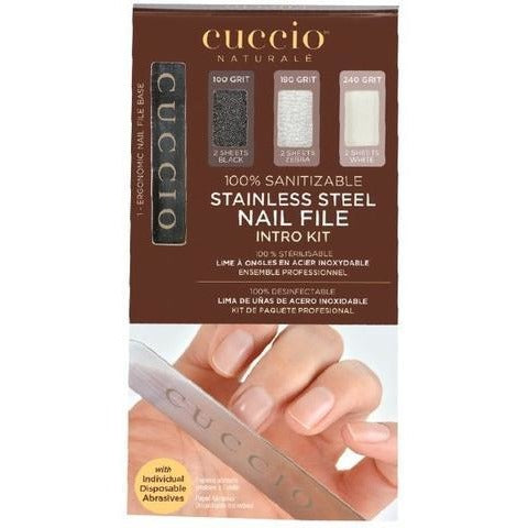 Cuccio Stainless Steel Nail File Intro Pack