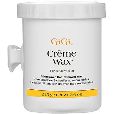 GiGi Crème Wax Microwave Formula 8 oz ( Microwavable Soft Wax )