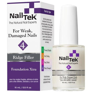 Nail Tek Foundation Xtra 4 0.5 fl oz – Ridge Filler for Weak, Damaged Nails
