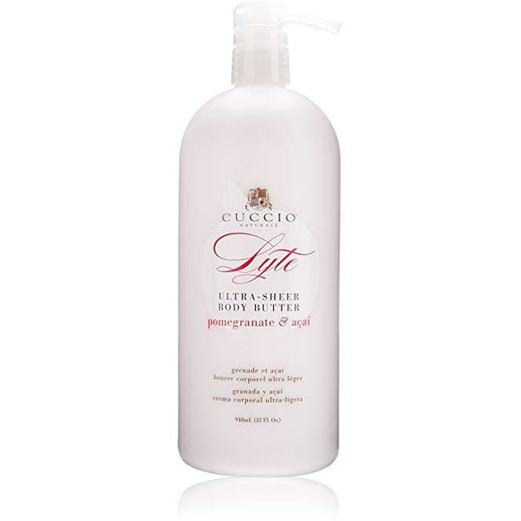 Cuccio Lyte Ultra Sheer Pomegranate & Acai Body Butter 32 oz ( Hand, Body and Foot Cream )