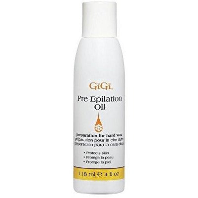 GiGi Pre-Epilation Oil 4 oz ( Before Wax For Hard Wax )