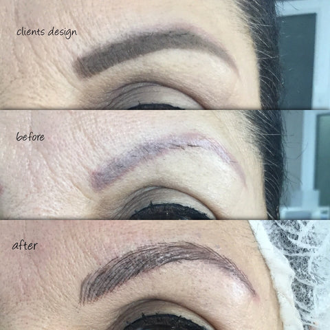 Microblading on Previously Tattooed Skin 3 Sessions