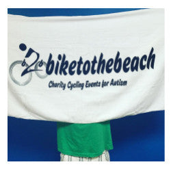 Bike to the Beach Beach Towel