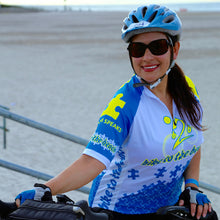Bike to the Beach Puzzle Piece Bike Jersey