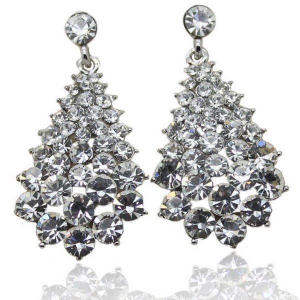 High Quality Fashion Charm Stud Earrings with Stone (Casual colorful Rhinestone Crystal Earrings)