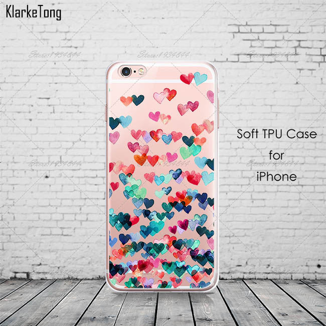 Watercolor Butterfly Pink Love Heart Case For iphone 6 6s 5 5s se 7 7Plus