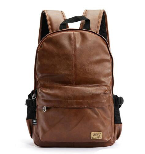 Fashion Leather Casual Laptop Travel shoulder bags /School bag for teenager