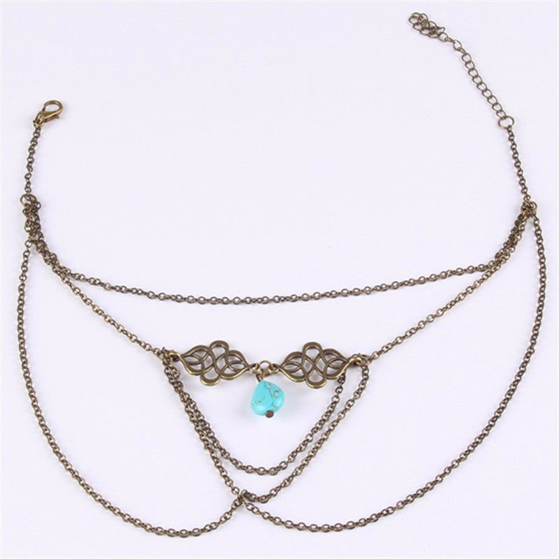 New Sexy Arm  Bracelets Women Accessories Water Drop Necklace