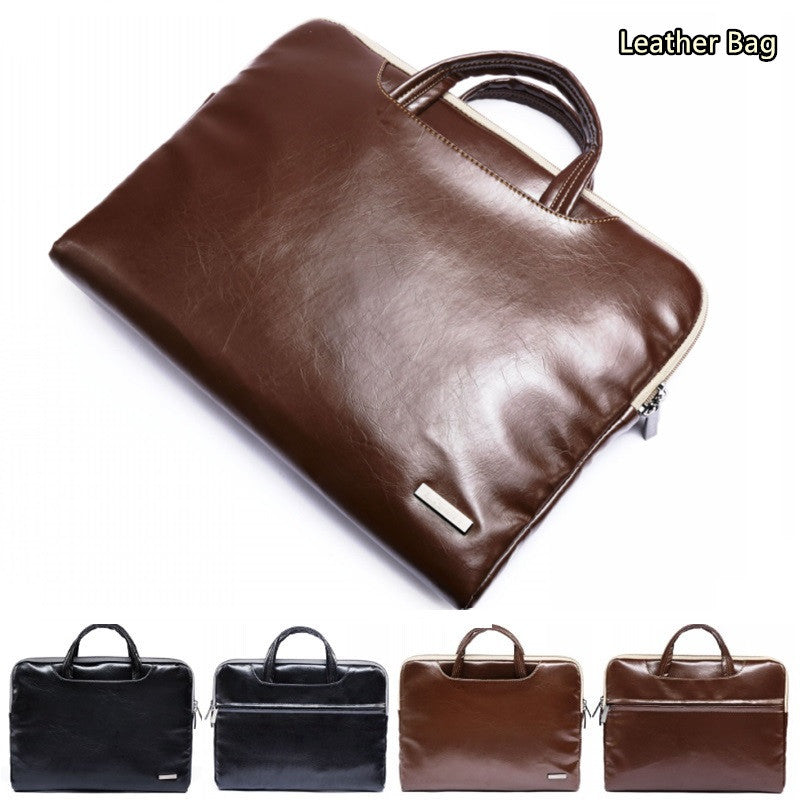 "Newest Leather Handbag For Laptop 11"",13"",15"" Sleeve Case Bag For MacBook AIR/PRO 13.3"",15.4"",Notebook 15.6 inch"