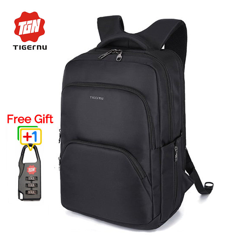 Tigernu Multifunction Waterproof Large Capacity Men 17Inch Laptop Backpack Nylon