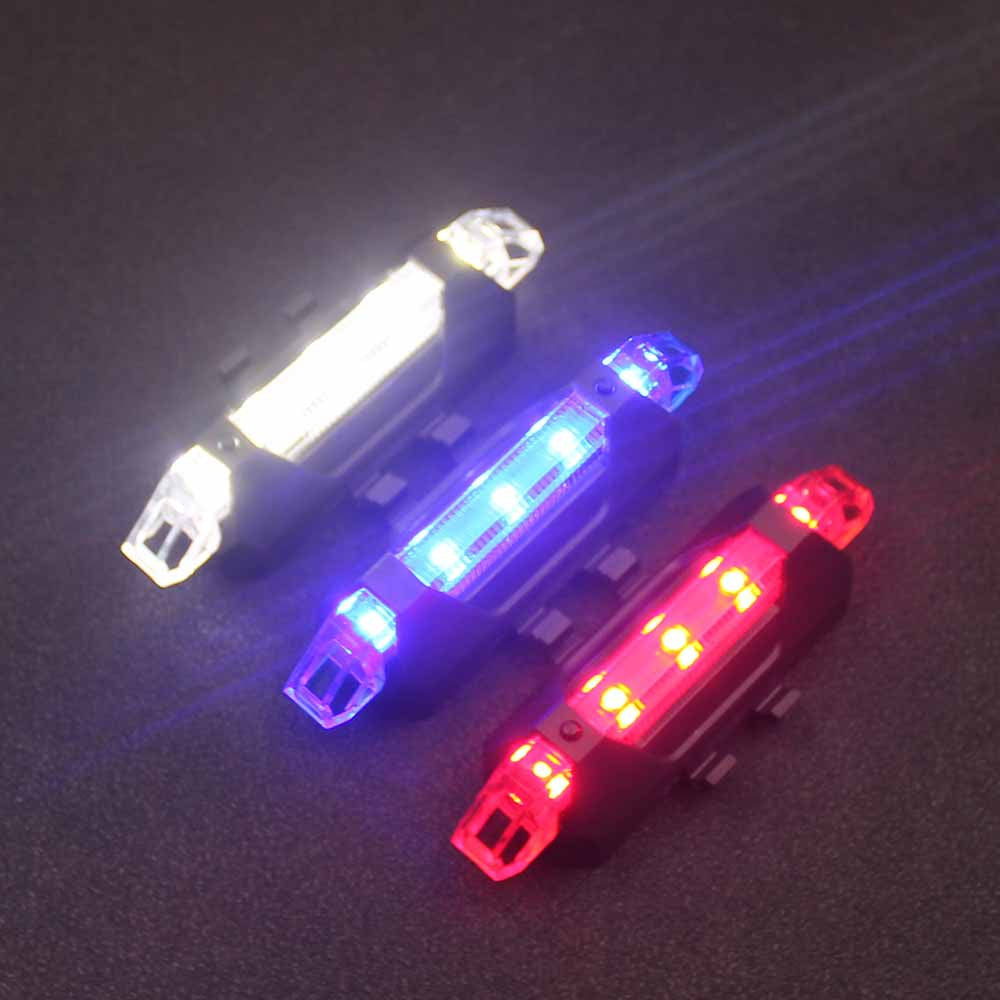2017 Portable 5 LED USB MTB Road Bike (Tail Light Rechargeable Safety Warning Bicycle)