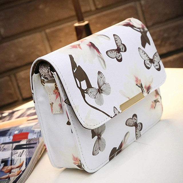 Floral Print Small Shell Women Bag