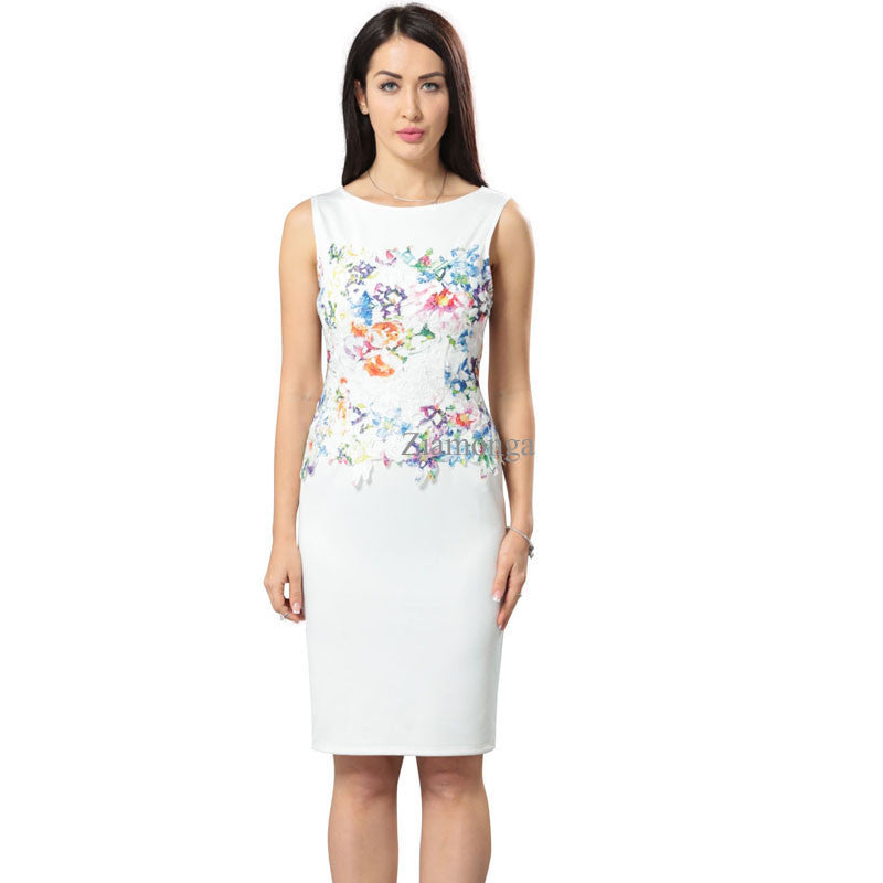 Office Dress for Women (Summer Floral Lace Dress)