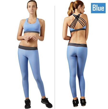 Women Yoga Sets Sports Bra+Tight Pant