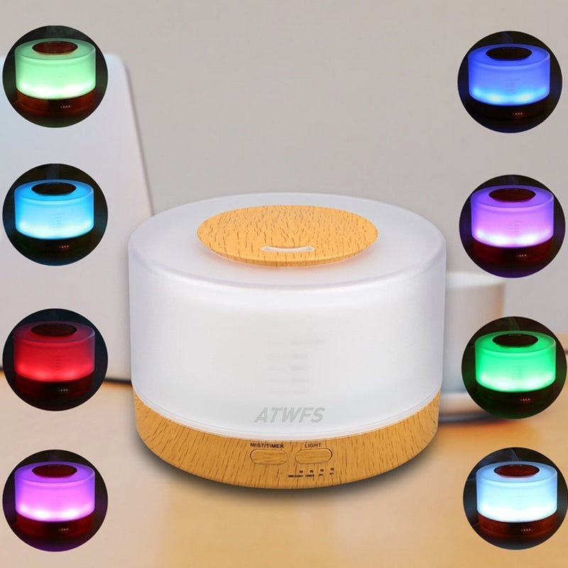 Remote Control Aromatherapy Air Humidifier (Diffuser with 7 Color LED Light)